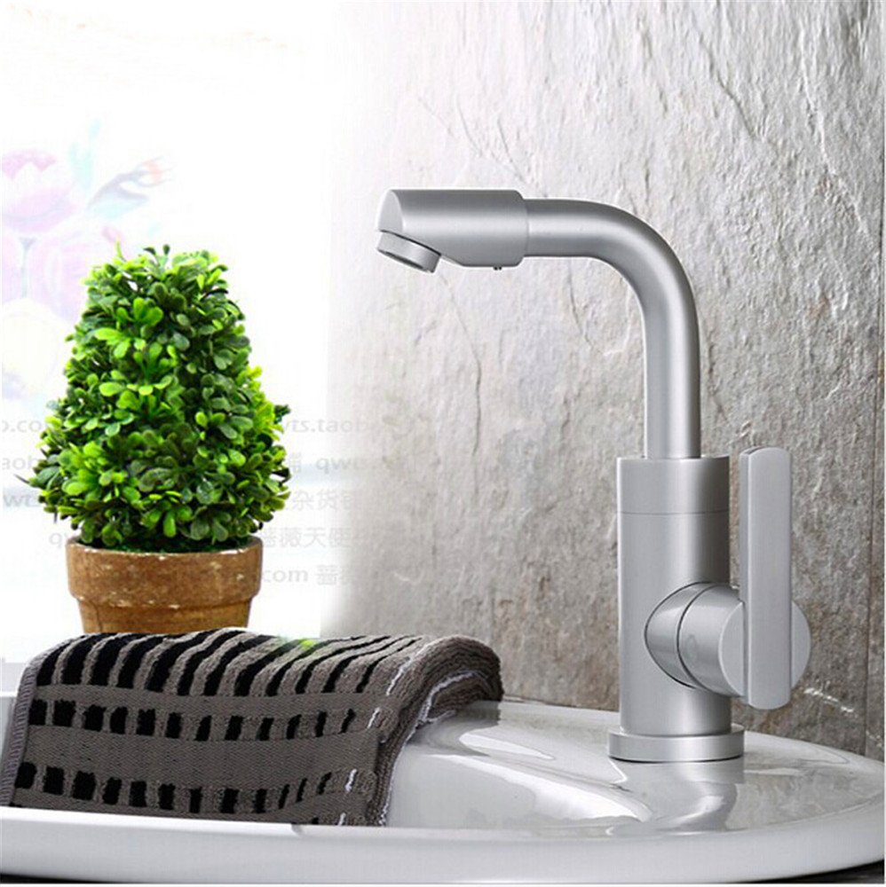 Hlluya Professional Sink Mixer Tap Kitchen Faucet Basin space aluminum faucet basin mixer water cold water taps trusted B3B2