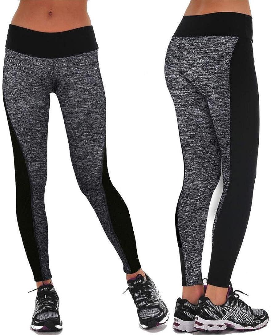 HARRYSTORE Mujer Pantalones el/ásticos de yoga Mujer Pantalones deportivos el/ásticos y c/ómodos mujer Polainas