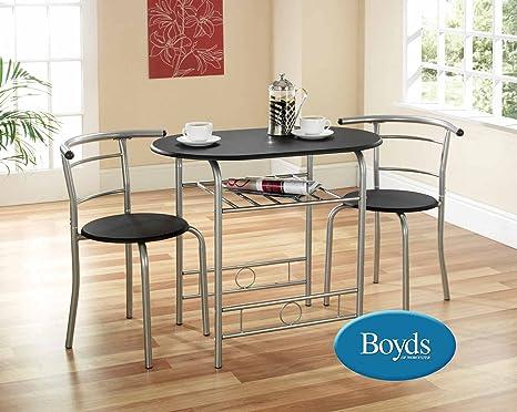 Greenhurst Gablemere Juego de mesa y 2 sillas para comedor (armazón ...