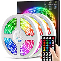Chusstang 50ft Color Changing LED Strip Lights with Remote