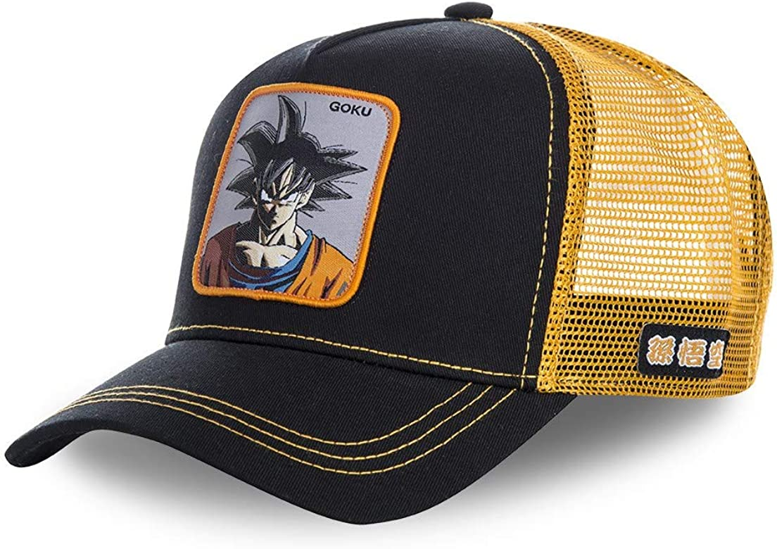 Collabs Gorra Dragon Ball Z Goku Trucker Negro OSFA (Talla única ...