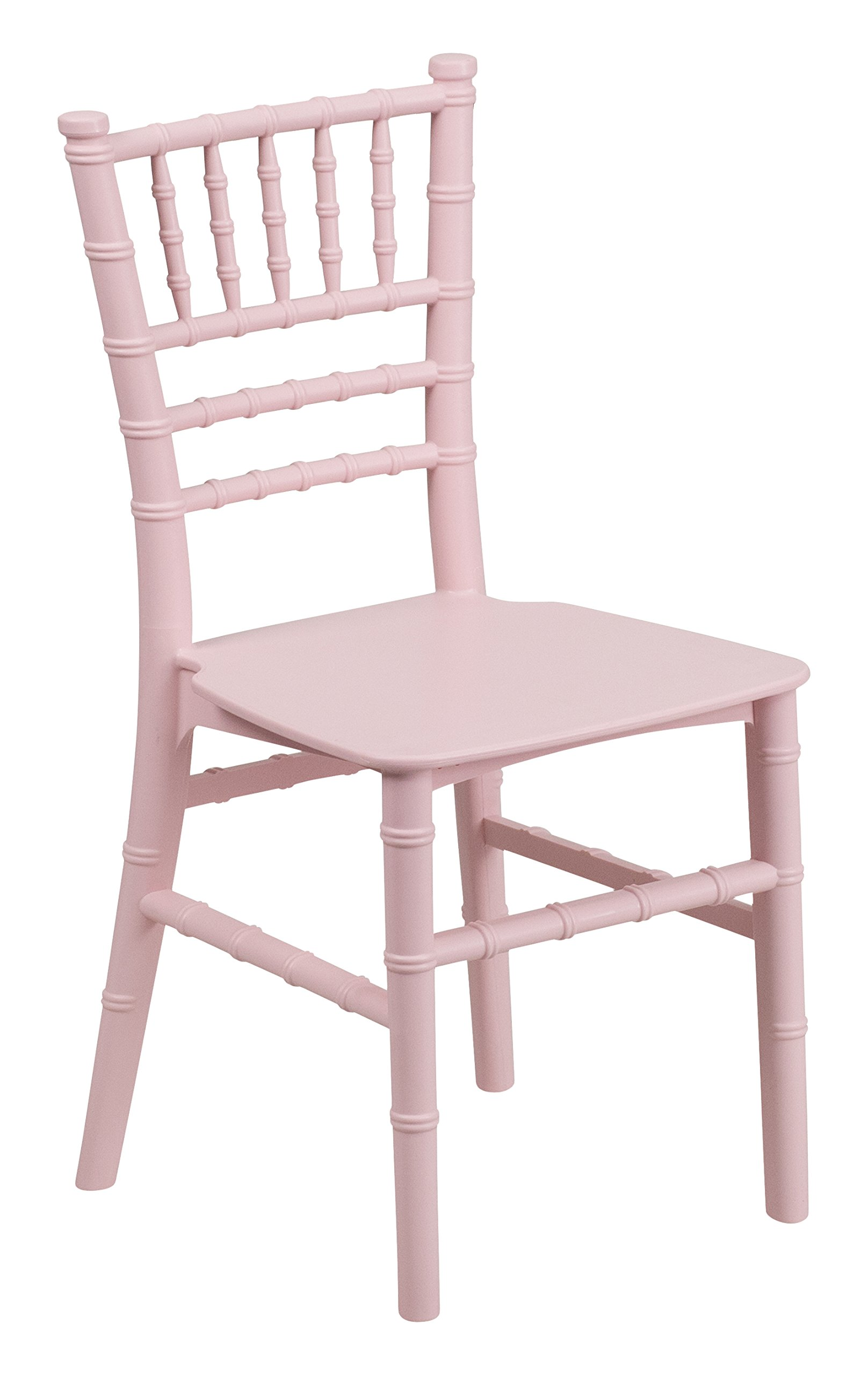 Flash Furniture 10 Pk. Kids Pink Resin Chiavari Chair