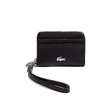 9b36da5f13 LACOSTE Portefeuille en Similicuir pour Dames - XS Wristle Zip Wallet,  8,5x12x3 (