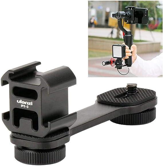 ULANZI PT-3 Triple Cold Shoe Mounts for Microphone Led: Amazon.co.uk: Camera & Photo