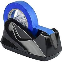 Acrimet Tape Dispenser Premium Plakbandhouder Tafelplakband met Anti-Slip Jumbo (Zwart Kleur)