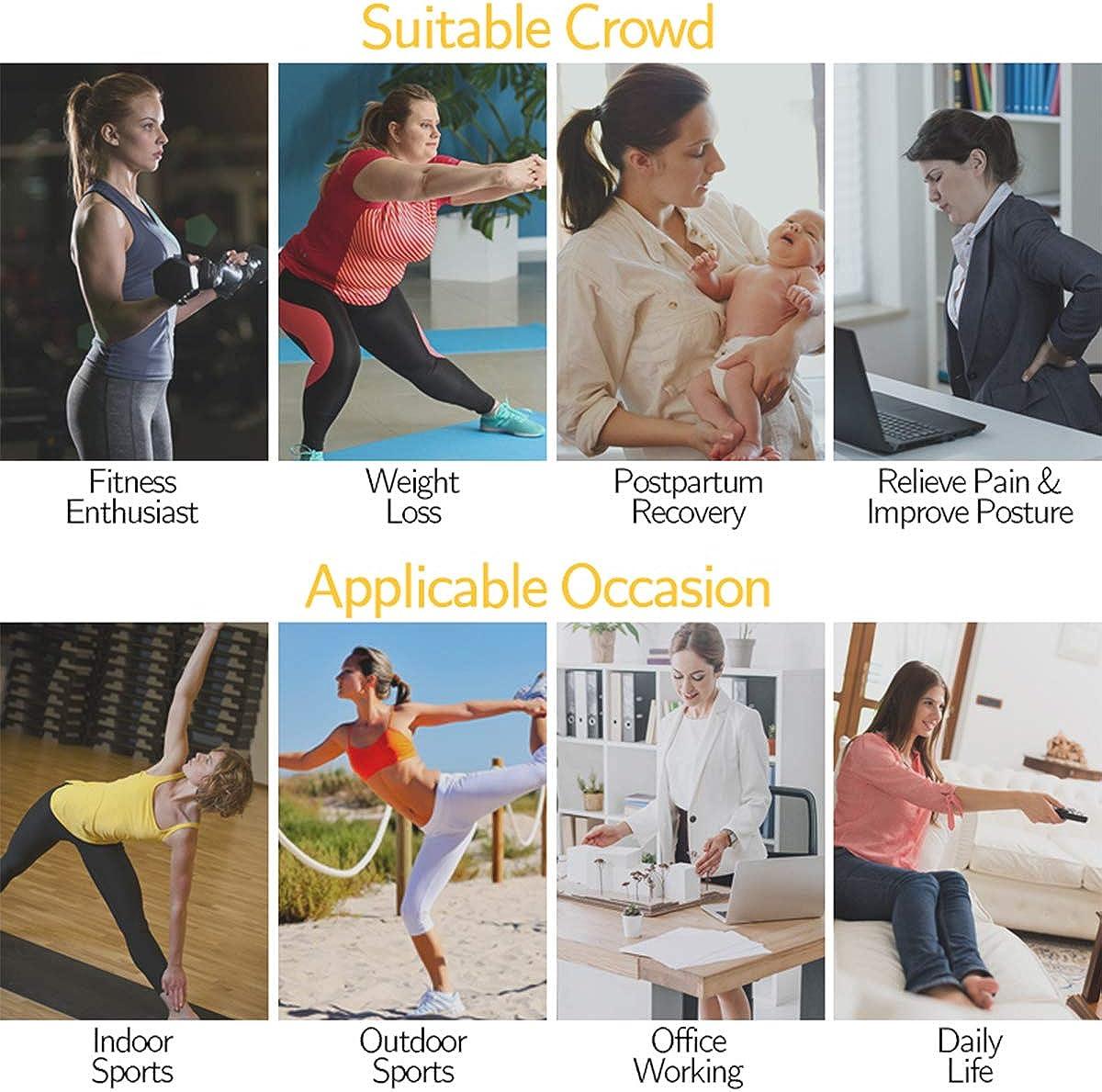 Waist Trimmer for Women, Sauna Sweat Waist Trainer Corset Belt, Body Shaper Slimming Workout Girdle Shapewear: Clothing