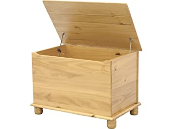 Ottoman Storage Chest Solid Pine Toy Chest Or Bedding Box Sol