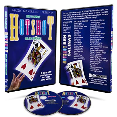 Magic Makers Hotshot with Cards Instructional Card Magic Tricks DVD with Magician Ben Salinas 50 Card Effects Explained: Toys & Games