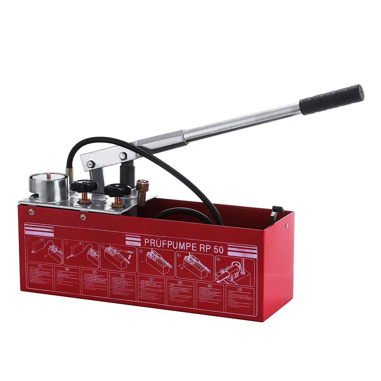 Hydrostatic Test Pump 50 Bar Hand Pressure Test Pump 726 PSI 3 Gallon Tank 45ML 1/2'' BSP Hydraulic Pressure Test Pump for Pipeline Pressure Container Irrigation Firemen (50 Bar Test Pump) by NEW Jia Qun