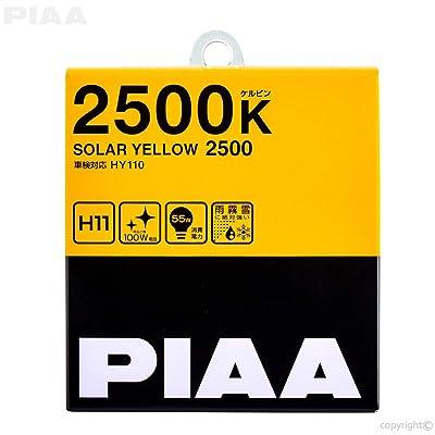 PIAA 22-13411 Solar Yellow H11 Light Bulb (2500K - 12V 55W), 2 Pack: Automotive [5Bkhe0110148]