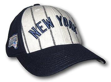 Nueva York rayas ajustable sombrero gorra tapa: Amazon.es ...