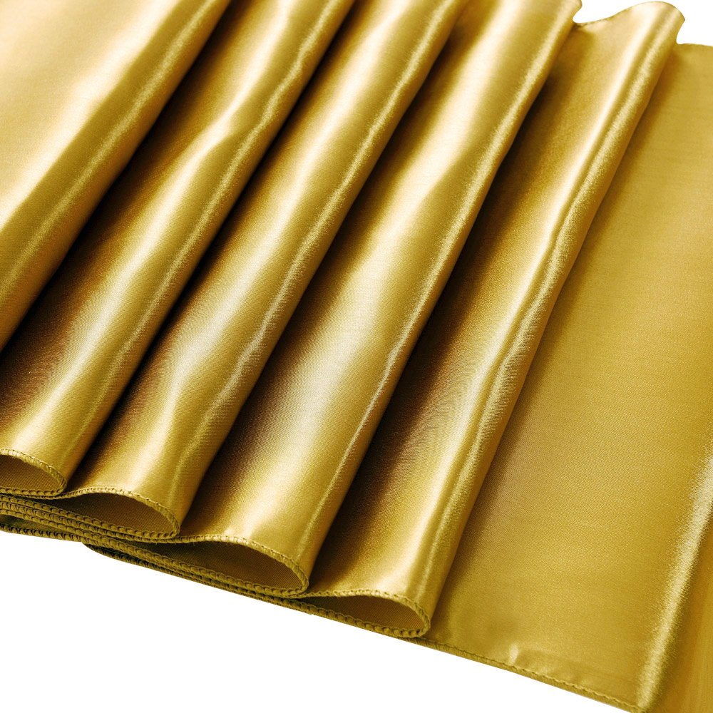 Ecore Gold Table Runner 10 Pack Satin Table Runners,12 x 108 Inches For Wedding Banquet Decoration by ECORE (Image #4)