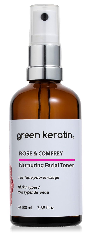 Green Keratin - Rose & Consoude Tonique Visage Nourrissant, Certifié Biologique - Peaux Sensibles Rose & Comfrey Toner
