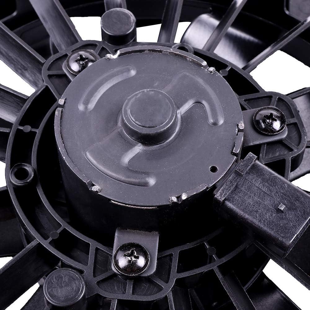 cciyu Radiator or Condenser Cooling Fan Fit for 04-12 Chevrolet Malibu Pontiac G6 Saturn Aura with Dual Fan