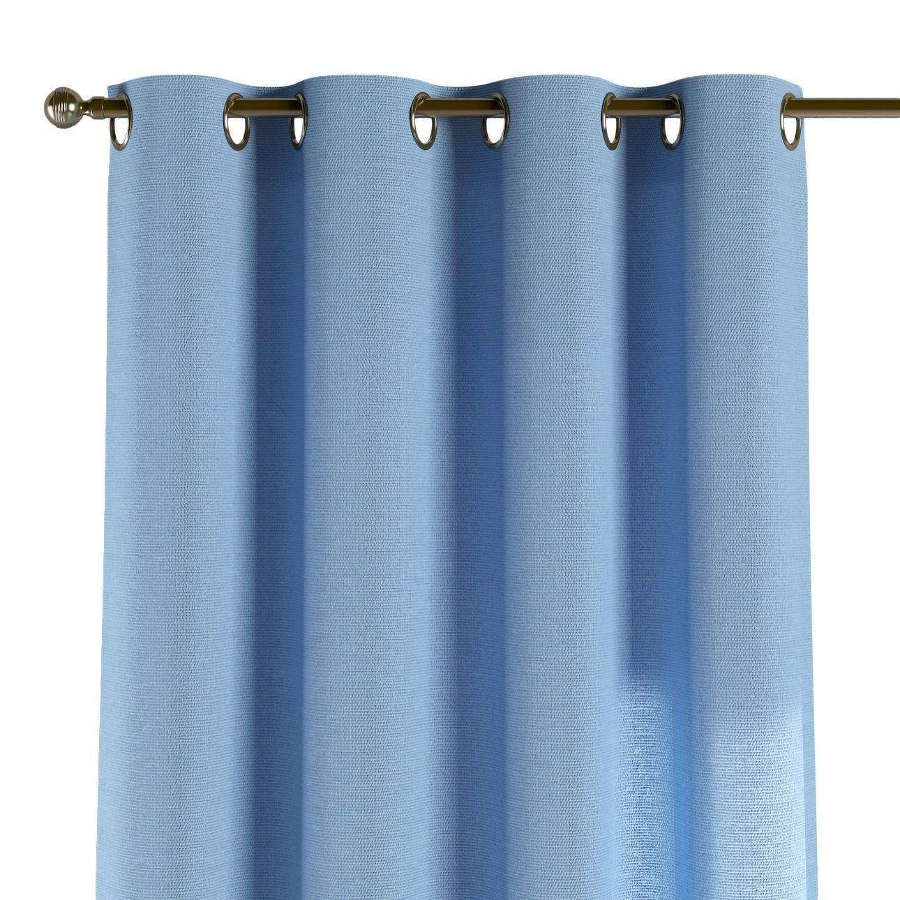 Dekoria Ösenschal Dekoschal Blickdicht 1 Stck. 130 × 260 cm blau Maßanfertigung möglich