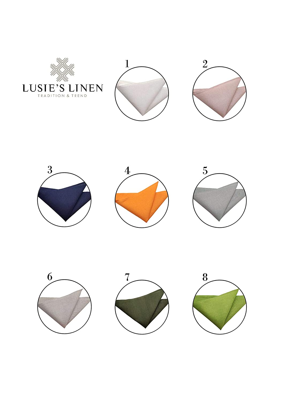 Lusies Linen Tovaglioli 52/% Lino Grigio Chiaro 15 x 15 cm Grigio Lino 48/% Cotone