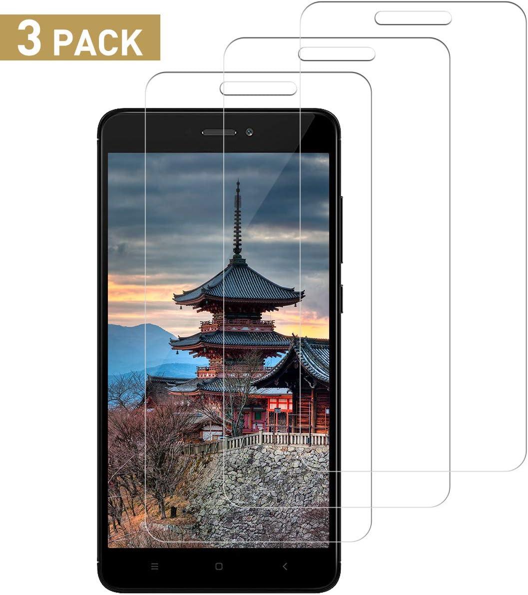 SNUNGPHIR Cristal Templado Compatible para Xiaomi Redmi Note 4X, [3 Piezas] [Alta Definición] [9H Dureza] Vidrio Templado Protector de Pantalla para Xiaomi Redmi Note 4X [Sin Cobertura Toda Pantalla]