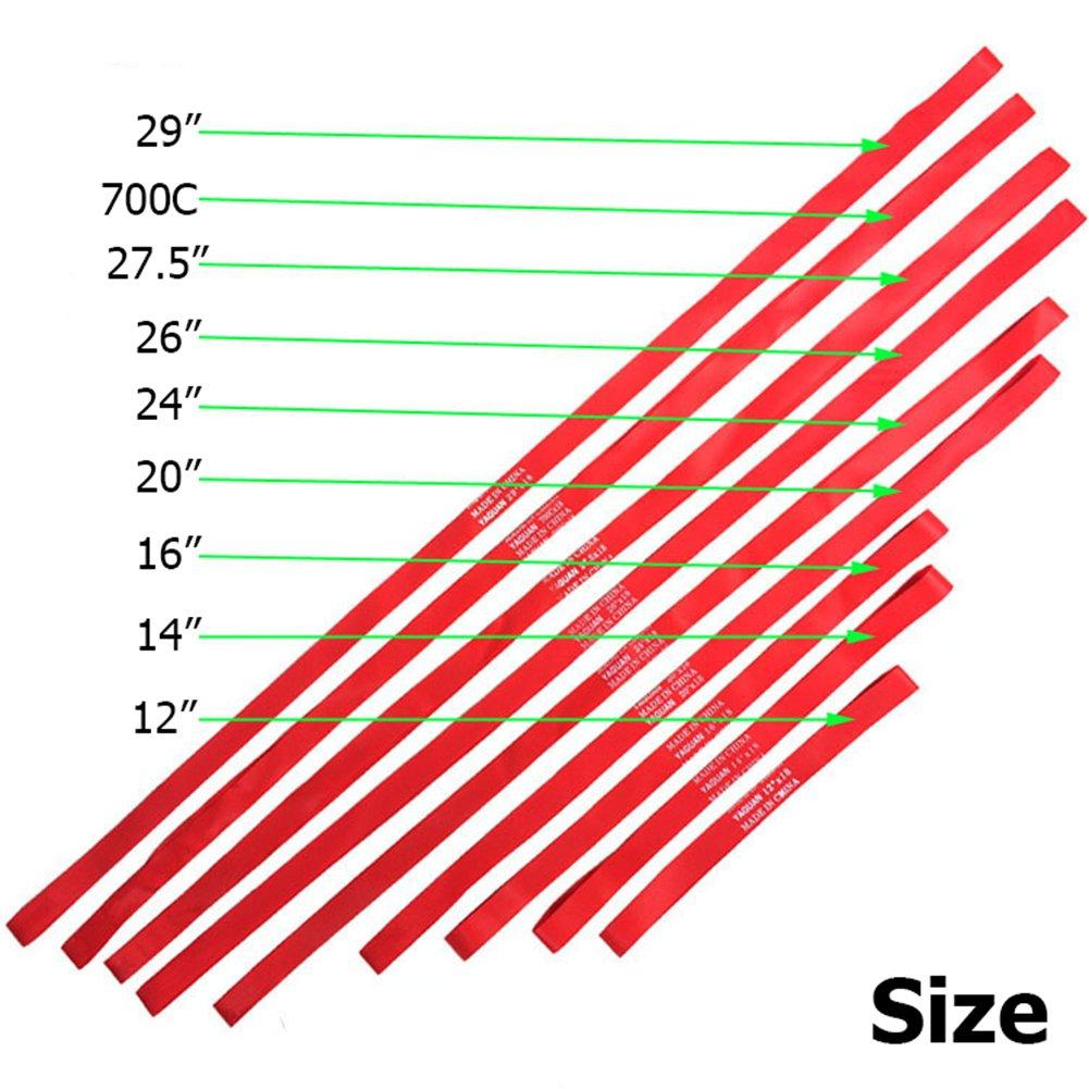 Twinkbling 12-29 pollici 2 protezioni per camera d/'aria per bicicletta 38-73,6 cm 700c
