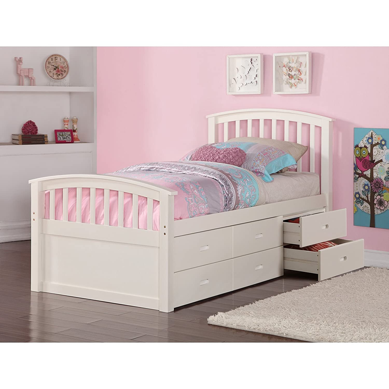 Amazoncom DONCO Kids 425CP Series Bed Twin Dark Cappuccino