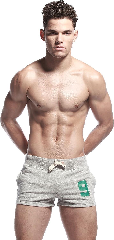 SEOBEAN Mens Low Rise Sports Soft Running Training Short Pants
