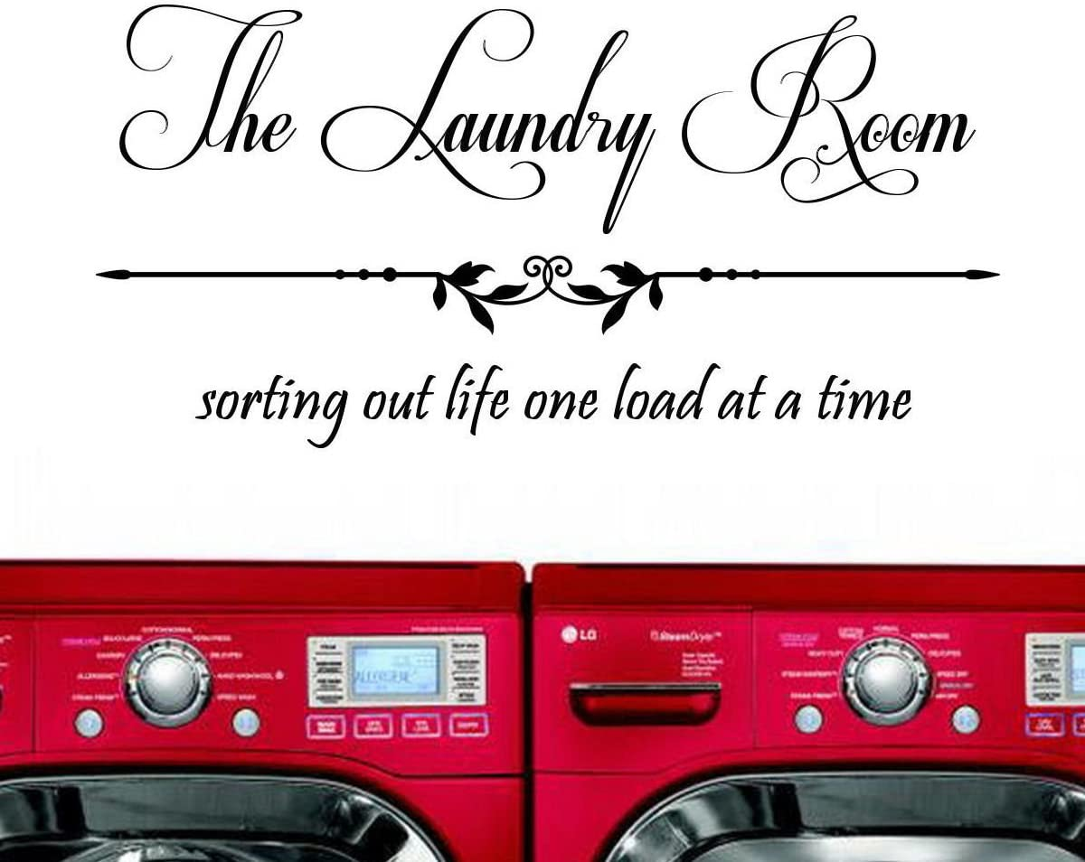 Laundry Room Sorting Out Life One Load at a Time Vinyl Wall Decal Sticker Laundry Room Decor