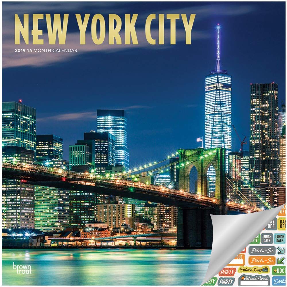 Ny School Calendar 2019-16 Amazon.: New York City Calendar 2019 Set   Deluxe 2019 New