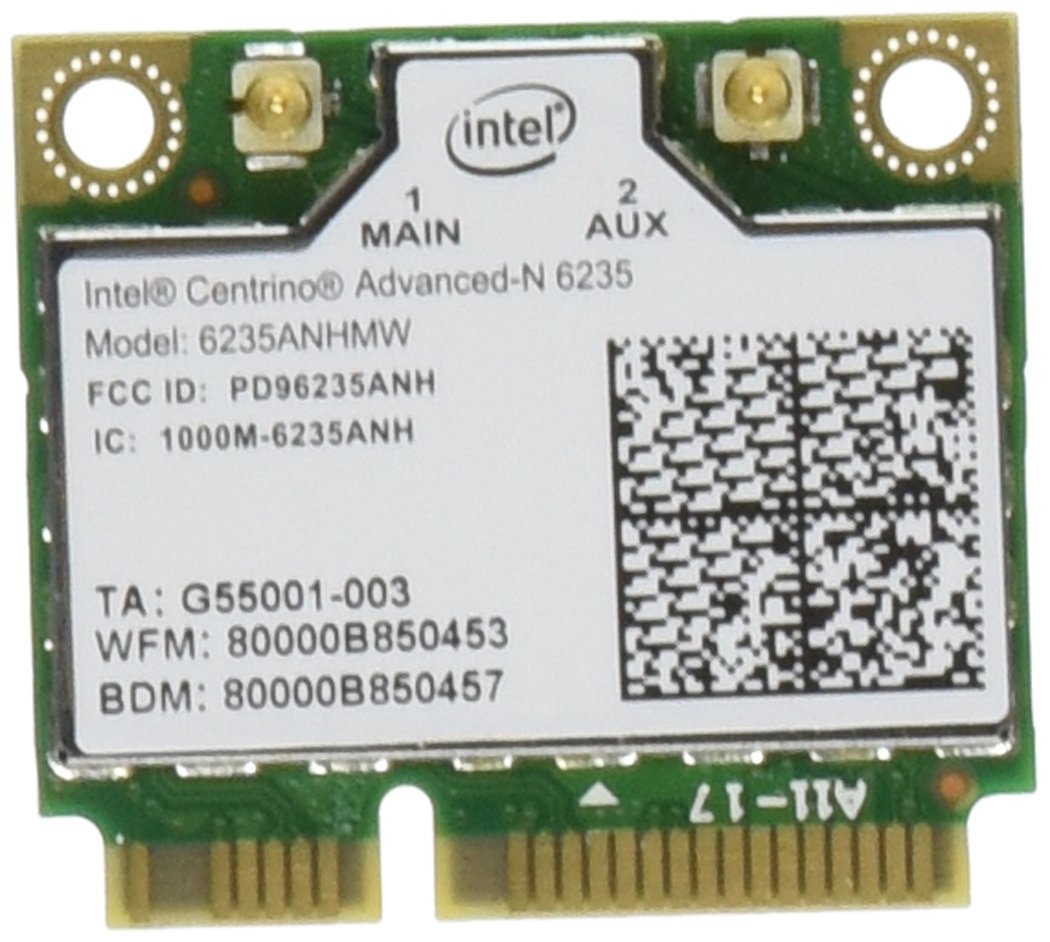 Intel Network 6235AN.HMWWB Centrino WiFi Card Half Mini PCI Express Advanced-N 6235 Dual Band Bluetooth by Intel