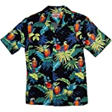 RJC Brand Tropical Parrots Men's Hawaiian Shirt