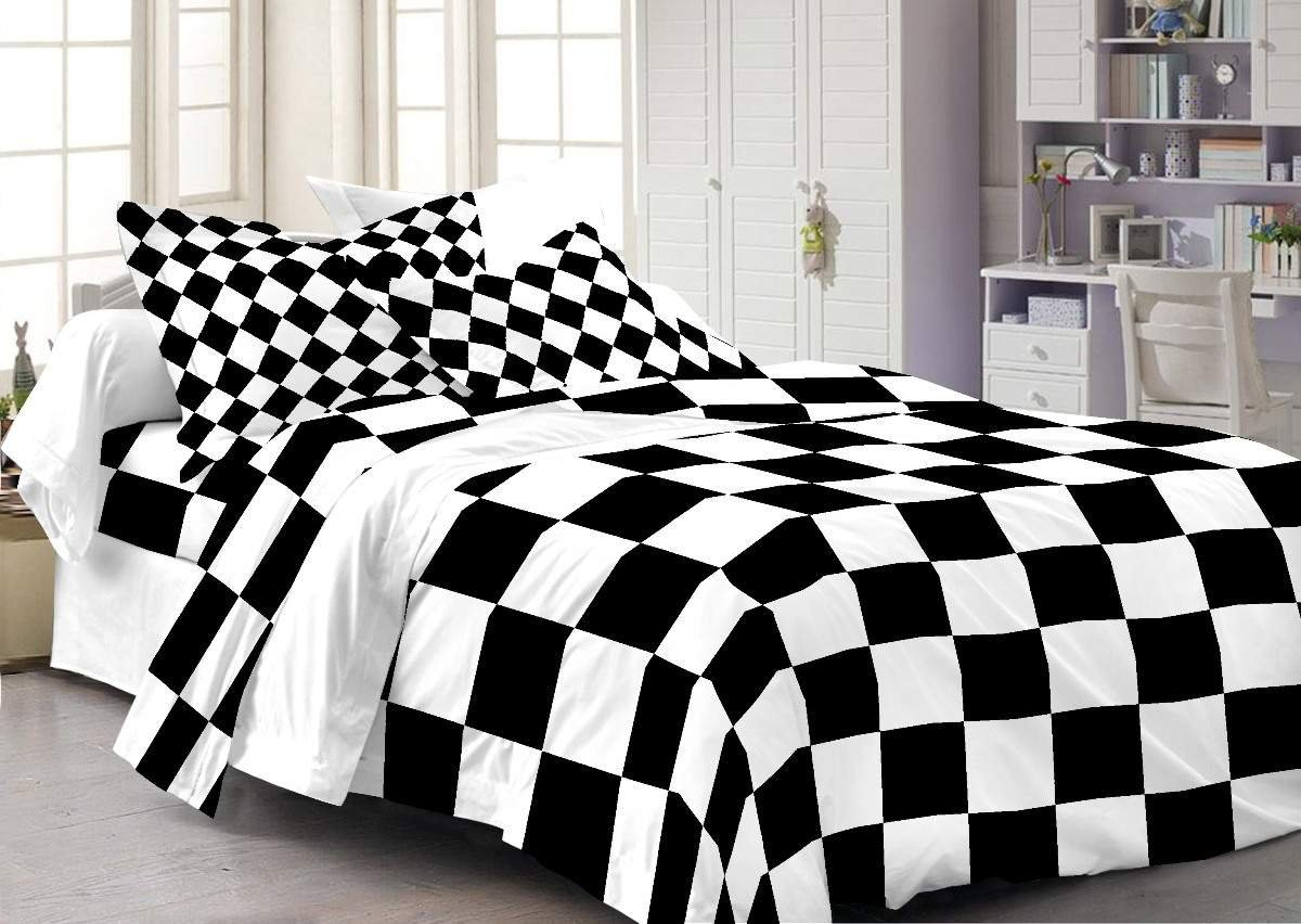 Gentil Cenizas 100% Cotton Double Bedsheet With 2 Pilow Covers( Mix U0026 Match106 A  ): Amazon.in: Home U0026 Kitchen