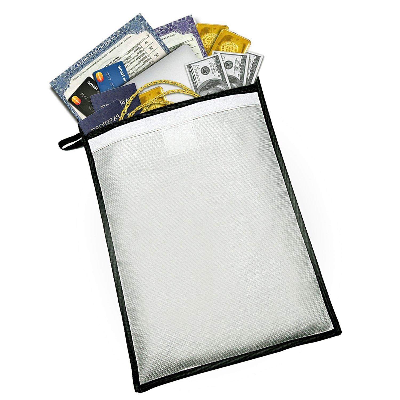 Document enveloppe Sac Pochette Sac /à Documents Ignifuge R/ésistant au Feu Sac R/ésistant /à lEau Pochette de protection Fournitures de bureau maison Voyage 40*28cm