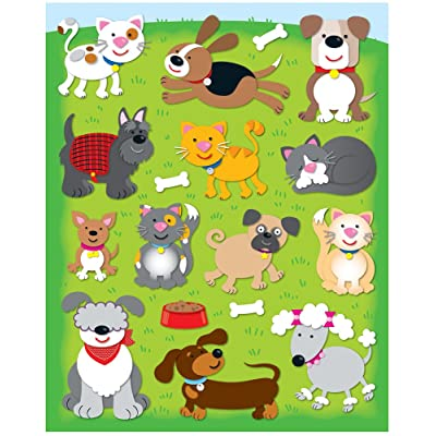 Carson Dellosa Dogs and Cats Shape Stickers (168031): Carson-Dellosa Publishing: Office Products