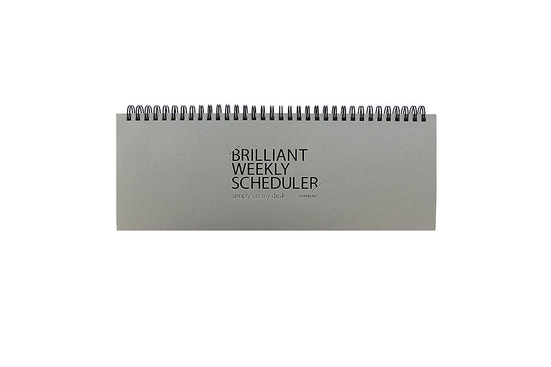 Paperian Brilliant Weekly Scheduler Wirebound Undated Weekly Planner Pad Scheduler (Blue)