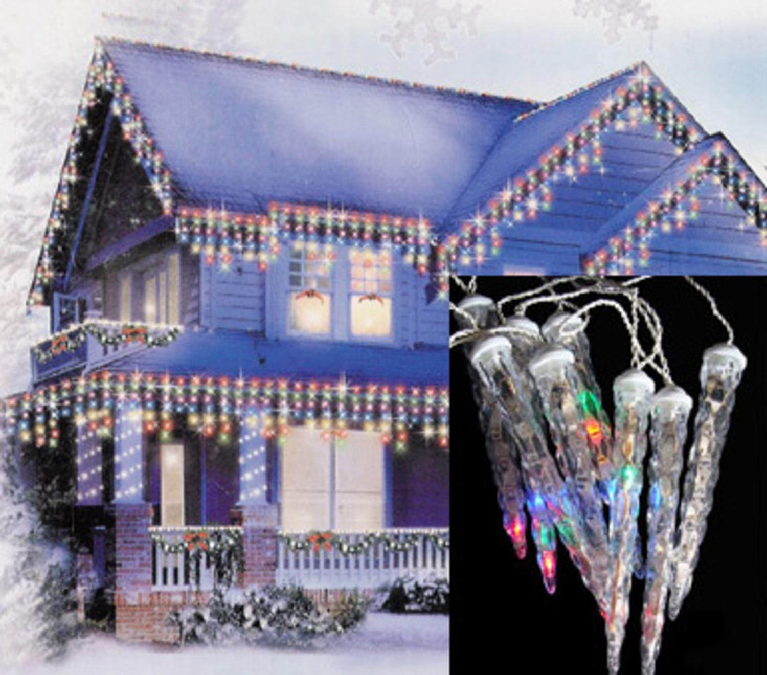 Northlight led multicolored dripping icicle shape christmas lights northlight led multicolored dripping icicle shape christmas lights with white wire set of 8 amazon home kitchen aloadofball Gallery