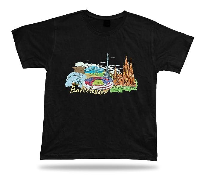 Barcelona españa sagdrada Familia Camp NOU Acuario Barcelona Park guell Camiseta: Amazon.es: Ropa y accesorios