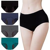 Momoshe Bragas Menstruales Mujer Período Pack de 4 Absorbentes Algodon Regla Flujo Abundante Braguitas Postparto…
