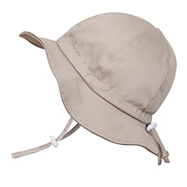 0b2198f344e Amazon.com  Baby Toddler Kids Breathable Cotton Sun Hat 50 UPF ...
