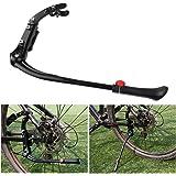 Foxnove Alluminio lega montagna regolabile bicicletta cavalletto robusto Kick Stand supporto per MTB (nero)