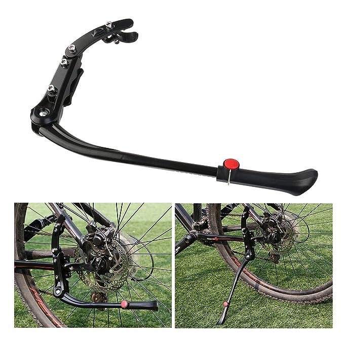 FOXNOVO Adjustable Kickstand Kick Stand Mount for MTB Mountain Bicycle  Cycling(Black)