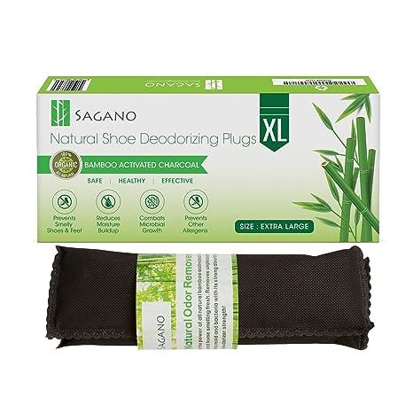 Sagano - El Mejor Desodorante Pies de Carbon Activado - 2 XL de Bolsas Absorbentes Que Quita Olores, Completamente Natural - Elimina el Olor a Humo, ...