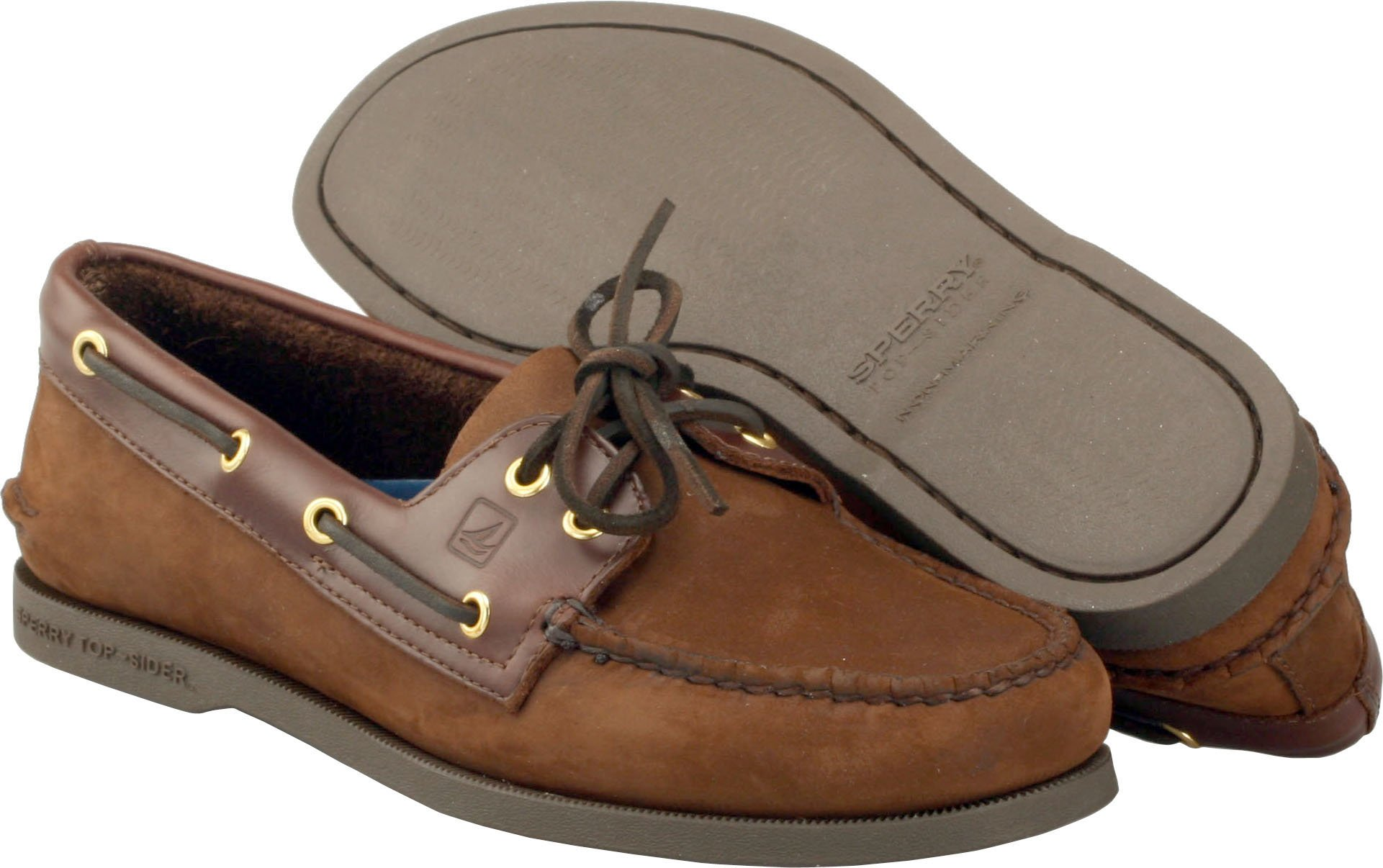 Sperry Top-Sider Men's Authentic 2-Eye Boat Shoe Buck Brown, 11.5 M US