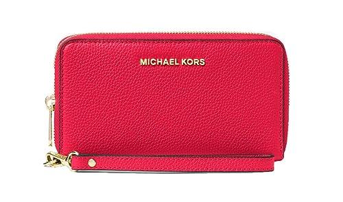 bf536f9031b1 MICHAEL Michael Kors Mercer Large Leather Smartphone Wristlet (Rose Pink)