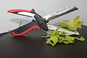 CC kitchen Sharp Clever Cutter kitchen scissors with cutting board - easy to use smart cutter vegetable scissors 6-in-1 knife as seen on tv - clever cutter food chopper kitchen tool easy to clean