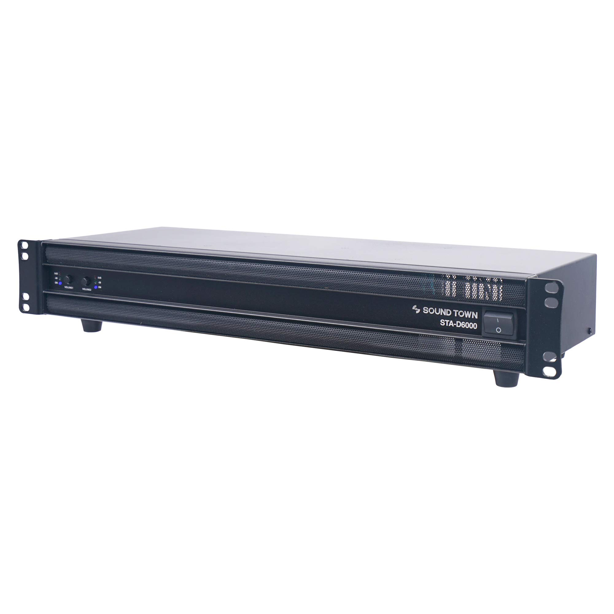 Sound Town Class-D 6000W Peak Output, Ultra-Lightweight, DJ PA Pro Audio 2-Channel Power Amplifier, 2x 750W at 8-ohm (STA-D6000)