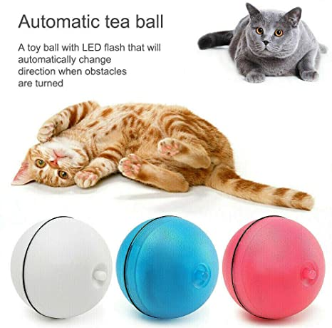 AKLWQ Smart Interactive Pet Toy Ball Jumping USB Electric Pet LED ...