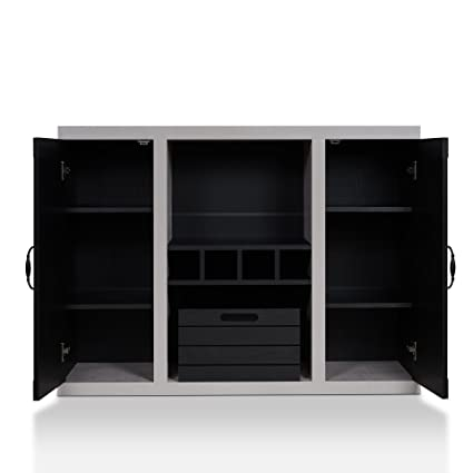 a70dee88019f5 HOMES: Inside + Out FGI-1777C1 Cato Industrial Buffet Black/Cement