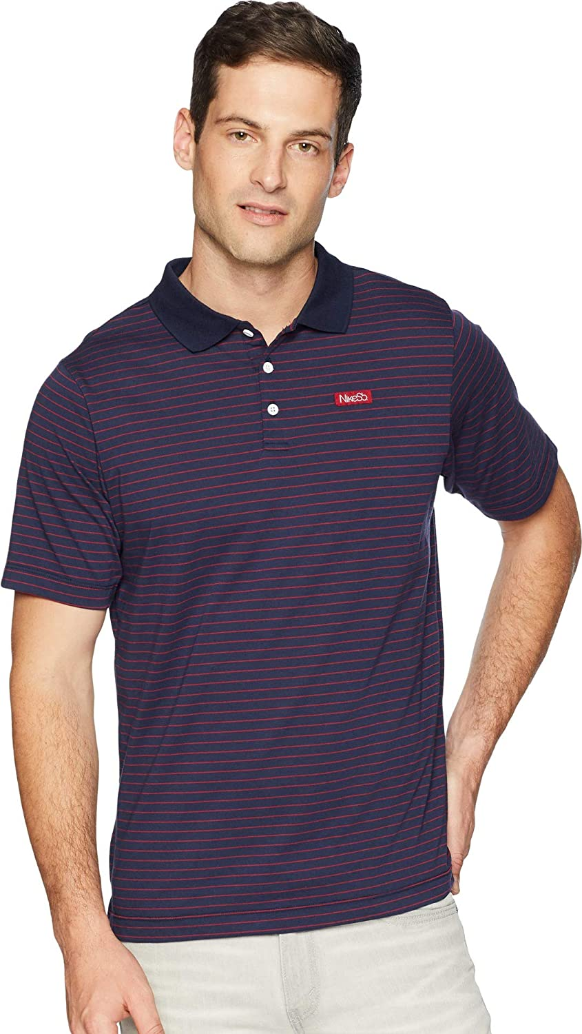 64ba23ff NIKE Mens SB Dry Short Sleeve Stripe Polo at Amazon Men's Clothing store: