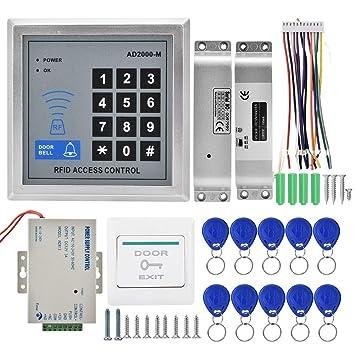 Amazon.com: Kit de control de acceso a la puerta de tarjeta ...