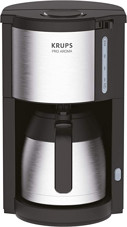 Krups KM305D10 ProAroma térmica de filtro cafetera, color negro/acero inoxidable: Amazon.es: Hogar