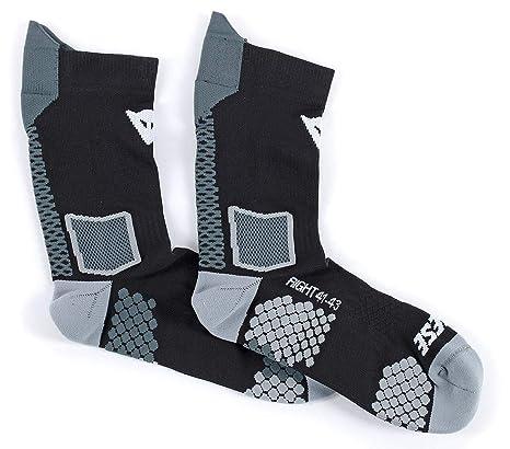Dainese-D-CORE MID calcetín, Negro/Antracite, Talla L