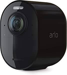 Arlo Ultra 2 Spotlight Camera - Add-on - Wireless Security, 4K Video & HDR, Color Night Vision, Wire-Free, Requires a SmartHub or Base Station sold separately, Black - VMC5040B-200NAS